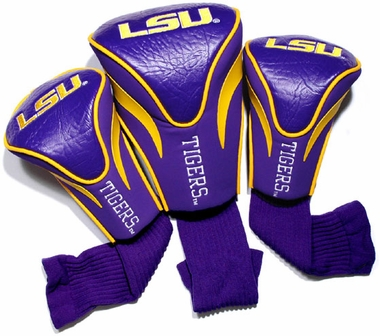 LSU Set of Three Contour Headcovers