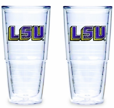 "LSU Set of TWO 24 oz. ""Big T"" Tervis Tumblers"