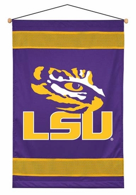 LSU SIDELINES Jersey Material Wallhanging
