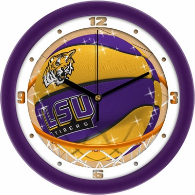 LSU Slam Dunk Wall Clock