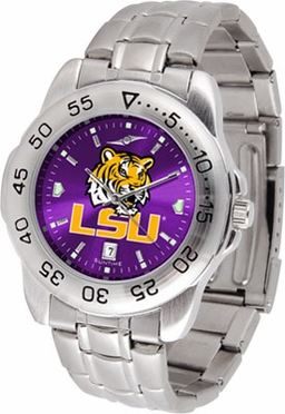 LSU Sport Anonized Men's Steel Band Watch