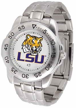 LSU Sport Men's Steel Band Watch