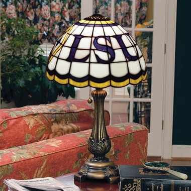 LSU Stained Glass Table Lamp