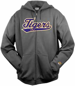 LSU Tailsweep Charcoal Hooded Sweatshirt - Medium