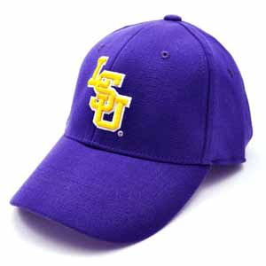 LSU Team Color Premium FlexFit Hat - Small / Medium