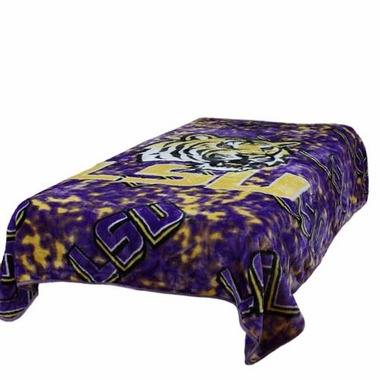 LSU Throw Blanket / Bedspread