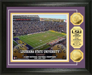 Louisiana State Tigers Louisiana State University Stadium Gold Coin Photo Mint