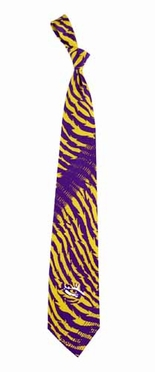 LSU Tiger Stripe Silk Necktie