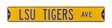 LSU Tigers Avenue Yellow Street Sign