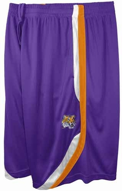 LSU Tigers Clean the Glass Performance Shorts - Purple