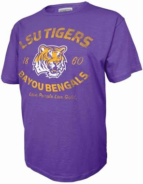 LSU Tigers Starting Lineup Purple Premium Slub T-Shirt