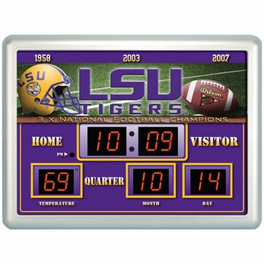 LSU Time / Date / Temp. Scoreboard