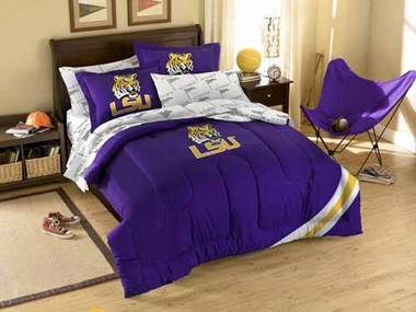 LSU Twin Comforter and Shams Set