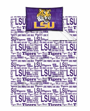 LSU Twin Sheet Set