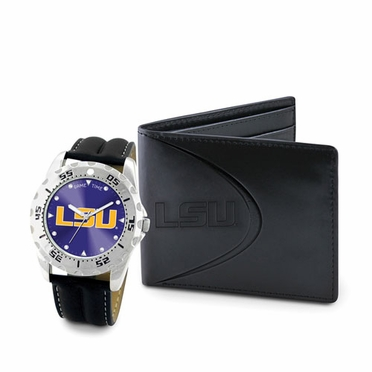 LSU Watch and Wallet Gift Set