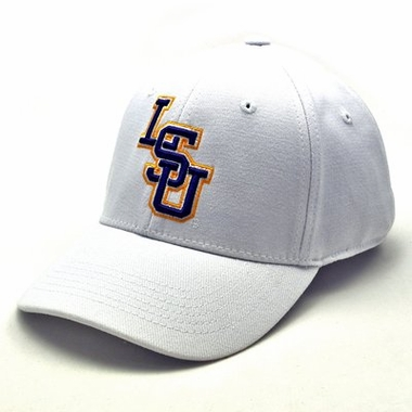 LSU White Premium FlexFit Hat