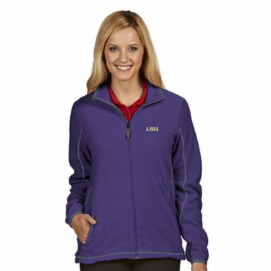 LSU Womens Ice Polar Fleece Jacket (Team Color: Purple)