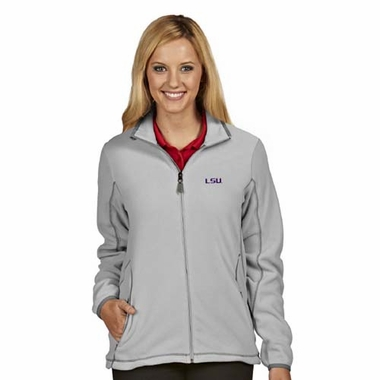 LSU Womens Ice Polar Fleece Jacket (Color: Gray)