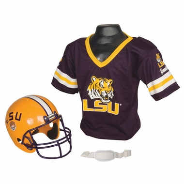 LSU Youth Helmet and Jersey Set