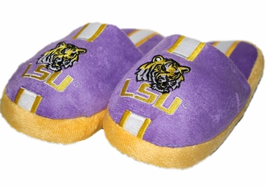 LSU YOUTH Team Stripe Plush Slippers