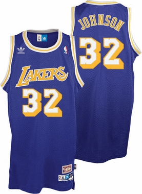 Magic Johnson Los Angeles Lakers Adidas Throwback Purple Swingman Jersey