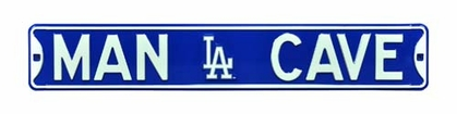Man Cave Los Angeles Dodgers Street Sign