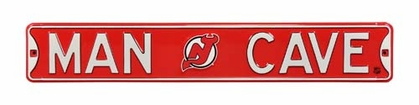 Man Cave New Jersey Devils Street Sign