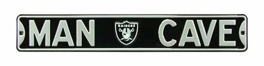 Man Cave Oakland Raiders Street Sign