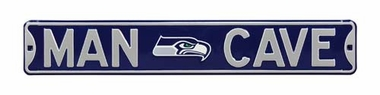Man Cave Seattle Seahawks Street Sign
