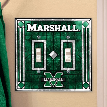 Marshall Art Glass Lightswitch Cover (Double)