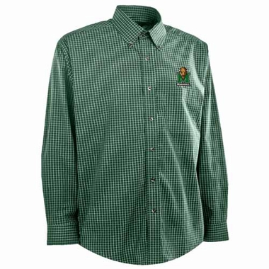 Marshall Mens Esteem Check Pattern Button Down Dress Shirt (Team Color: Green)