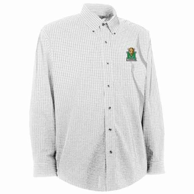 Marshall Mens Esteem Check Pattern Button Down Dress Shirt (Color: White)