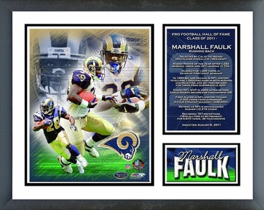 Marshall Faulk 2011 Hall of Fame Framed Milestones & Memories(#294)