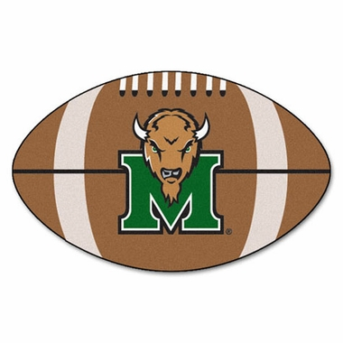 Marshall Football Shaped Rug