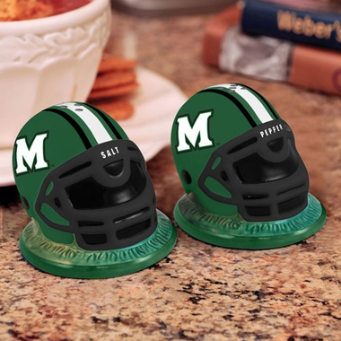 Marshall Helmet Ceramic Salt and Pepper Shakers