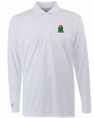 Marshall Mens Long Sleeve Polo Shirt (Color: White)