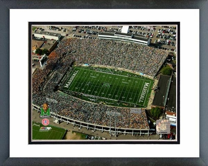 Marshall Marshall University Stadium - Aerial View 16x20 Framed and Double-Matted Photo