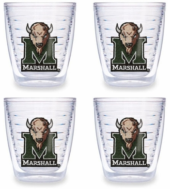 Marshall Set of FOUR 12 oz. Tervis Tumblers