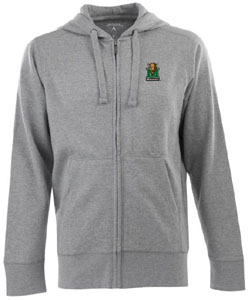 Marshall Mens Signature Full Zip Hooded Sweatshirt (Color: Gray) - Medium