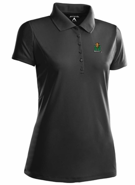 Marshall Womens Pique Xtra Lite Polo Shirt (Color: Black)