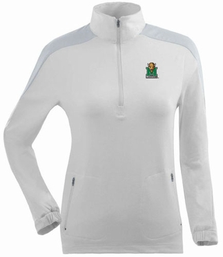 Marshall Womens Succeed 1/4 Zip Performance Pullover (Color: White)