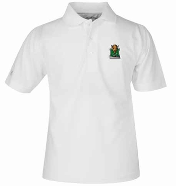 Marshall YOUTH Unisex Pique Polo Shirt (Color: White)