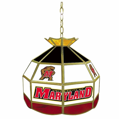 Maryland 16 Inch Diameter Stained Glass Pub Light