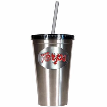 Maryland 16oz Stainless Steel Insulated Tumbler with Straw