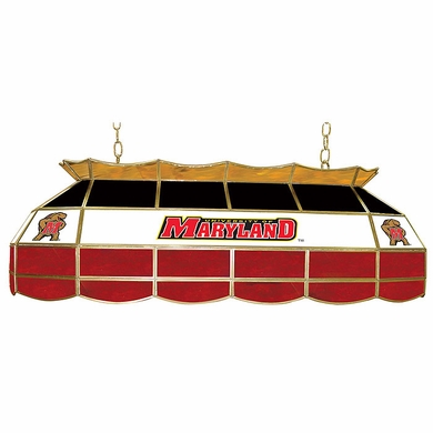 Maryland 40 Inch Rectangular Stained Glass Billiard Light