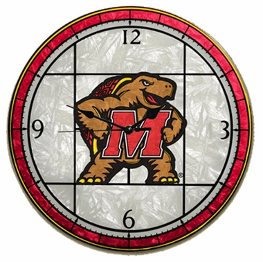 Maryland Art Glass Clock
