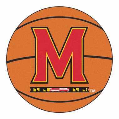 Maryland 27 Inch Basketball Shaped Rug