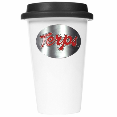 Maryland Ceramic Travel Cup (Black Lid)
