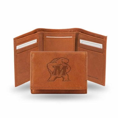 Maryland Embossed Leather Trifold Wallet