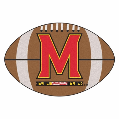 Maryland Football Shaped Rug